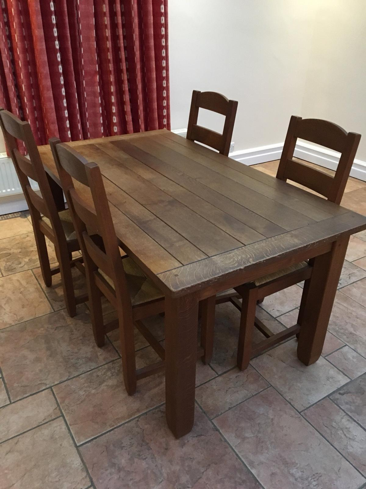 M S Hemsley Oak Table 4 Chairs In Mk17 Guise For 225 00