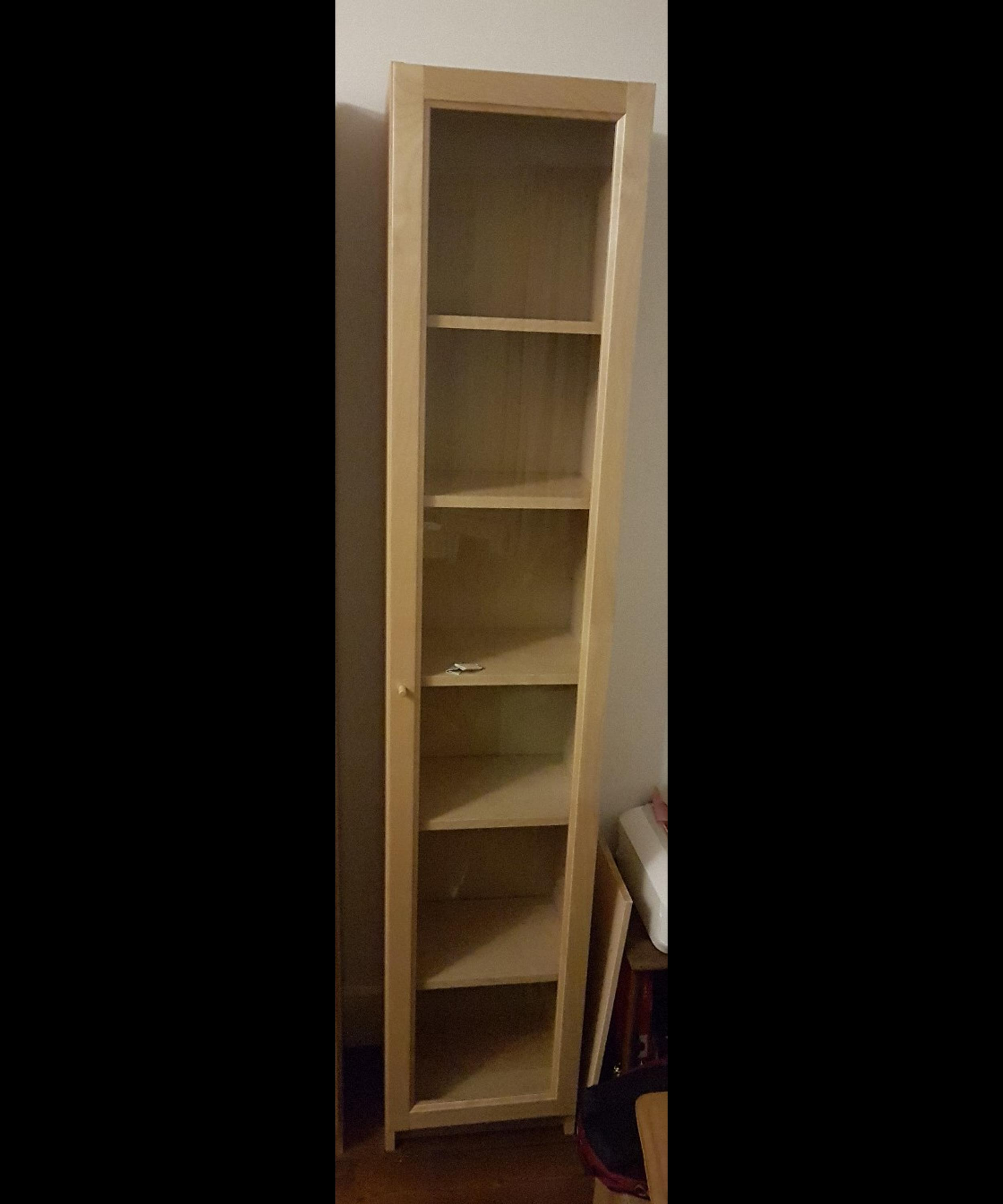Ikea Billy Bookcase 40cm Birch Glass Door