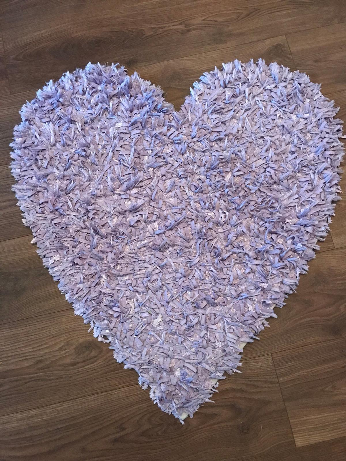 Next Lilac Heart Rug In Dy8 Dudley For