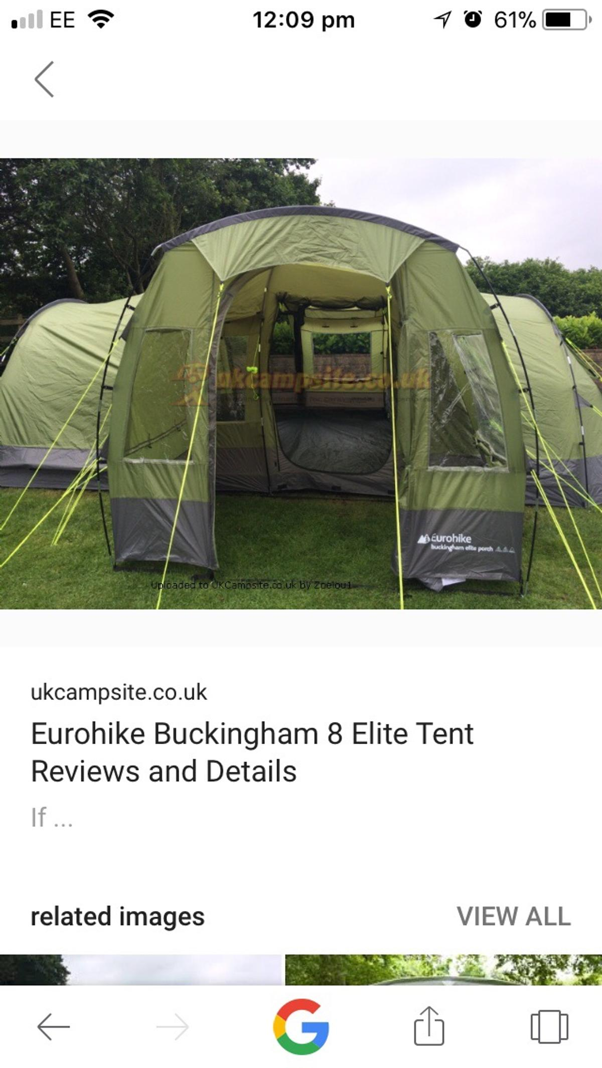 more photos 50167 7a12a Eurohike 8 man tent with porch in PR25 Ribble for £100.00 ...
