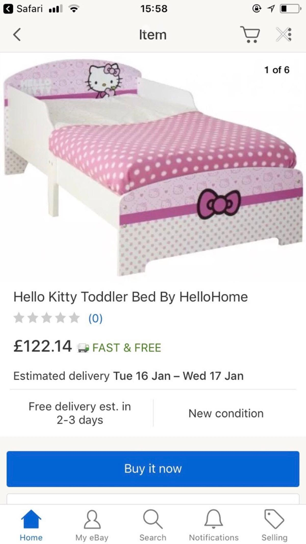 Hello Kitty Toddler Bed.Hello Kitty Toddler Bed