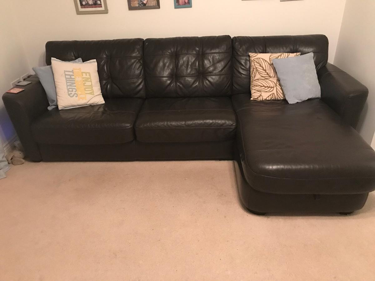 DFS leather corner sofa bed in Leighton-Linslade for £200.00 for ...