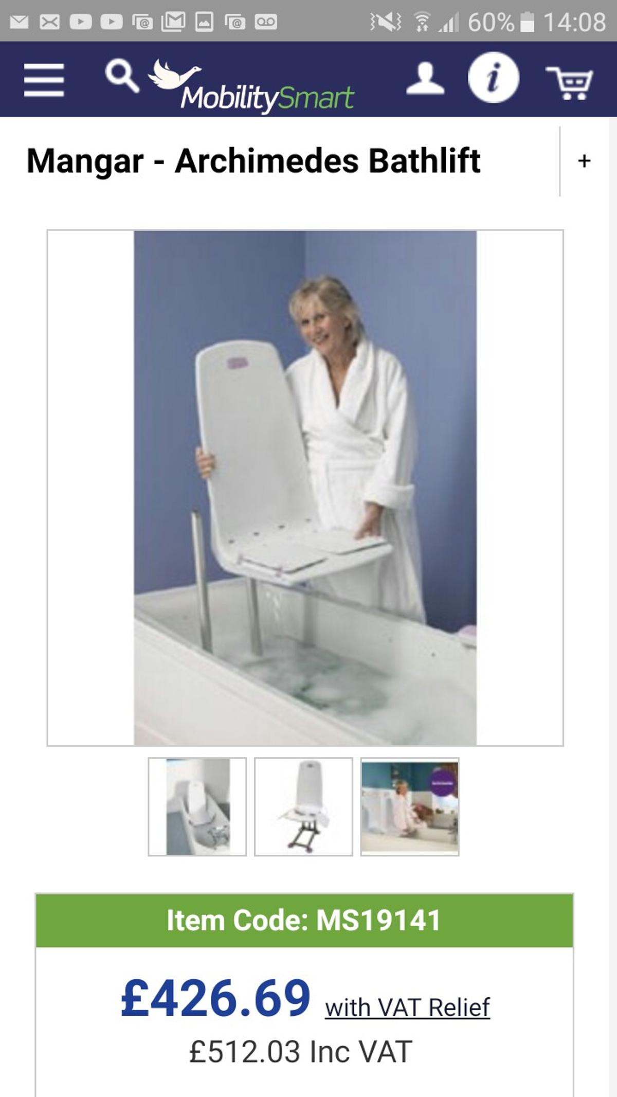 Bath Lift Disabled Elderly In Bl1 Bolton For 100 00 For