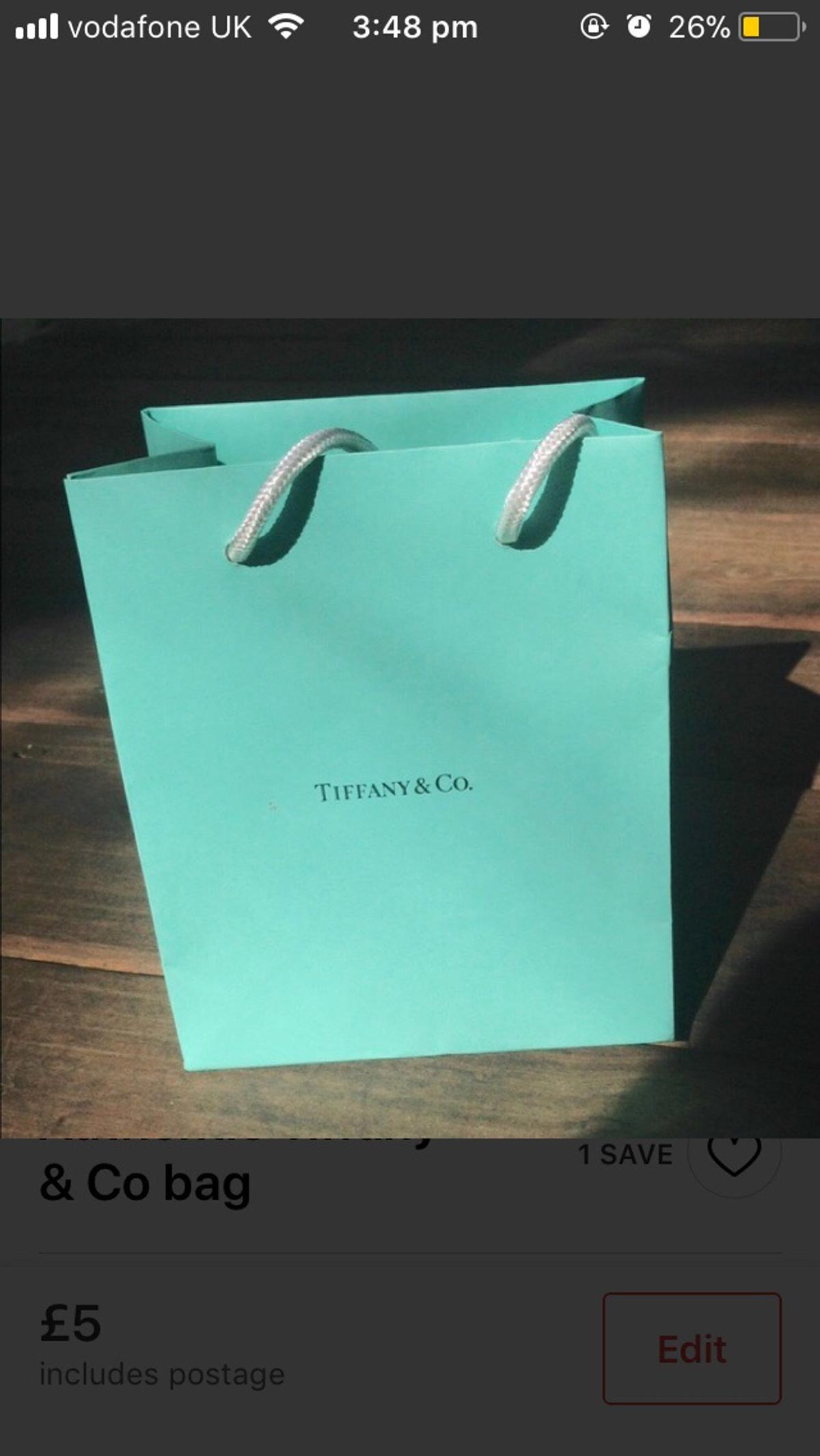 87d8eb35a71 Authentic Tiffany & Co gift bag in E13 London for £3.00 for sale ...