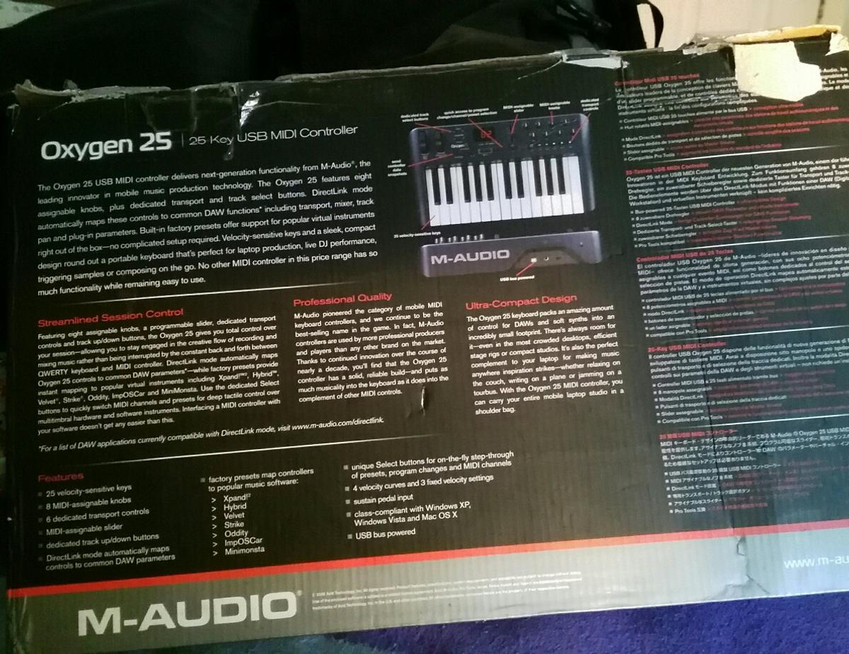 M-Audio Oxygen 25 Keyboard in SW19 London for £70 00 for