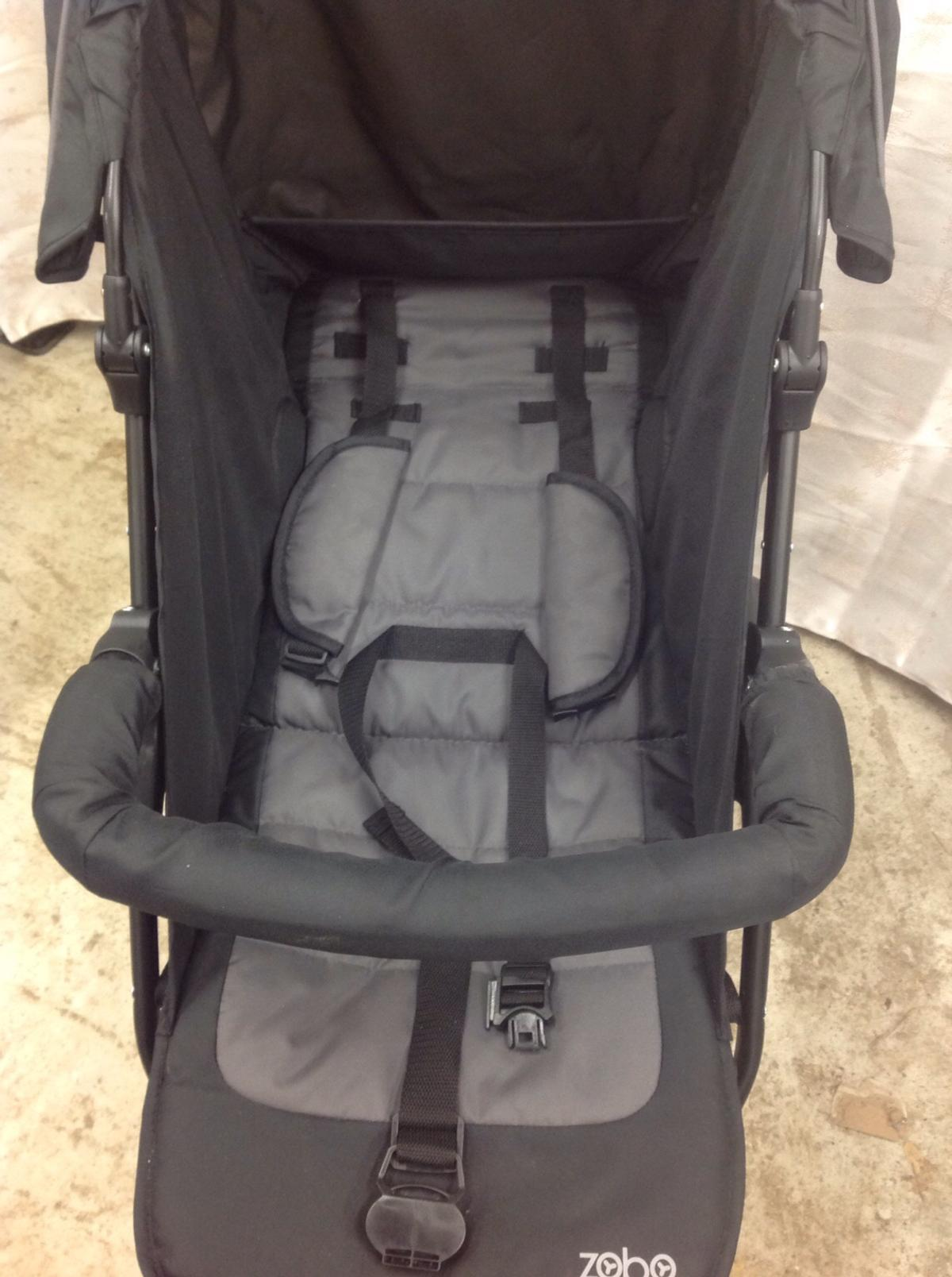 Zobo Three Wheeled Stroller In Black In Ig8 Redbridge For 35 00 For