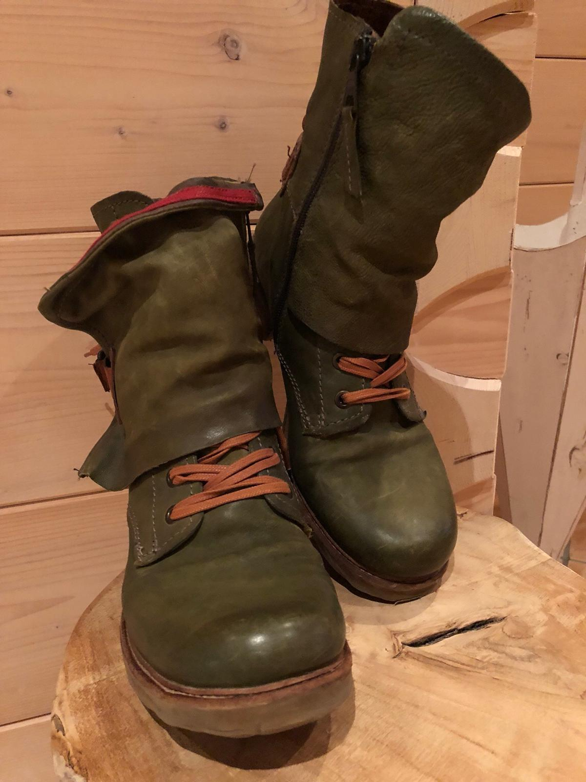 A.S.98 AIRSTEP STIEFELETTE BOOTS KHAKI GR 38 in 83607