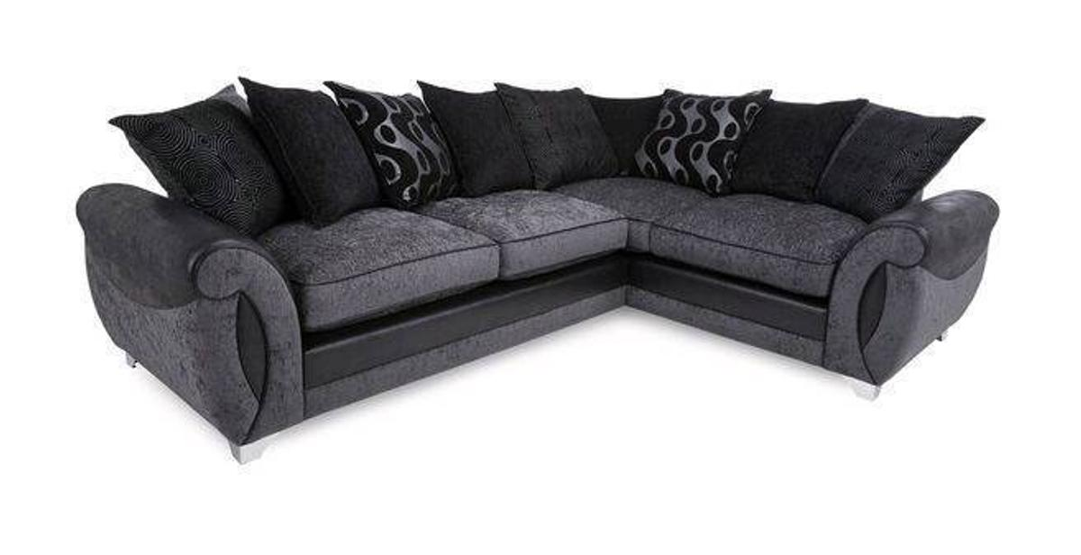 Black Dfs Corner Sofa
