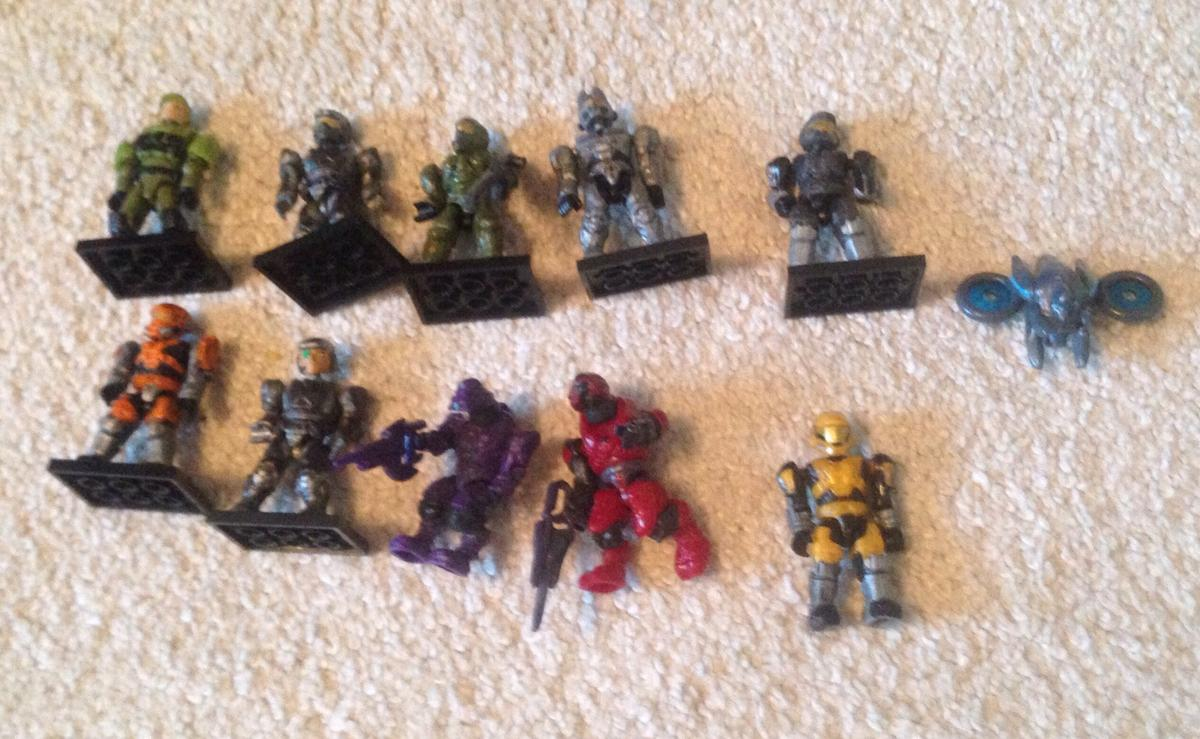 11 Mega Bloks Halo Lego Figures Bundle