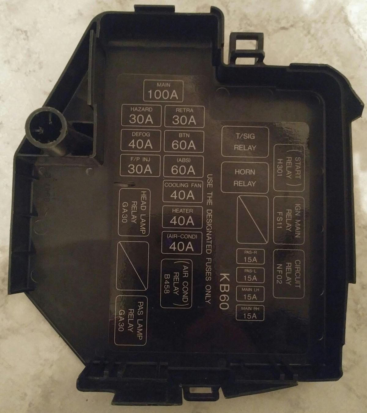 ford probe 2 / 24v fuse box abdeckung !!! in 67069 ludwigshafen am rhein  for €6.00 for sale | shpock  shpock