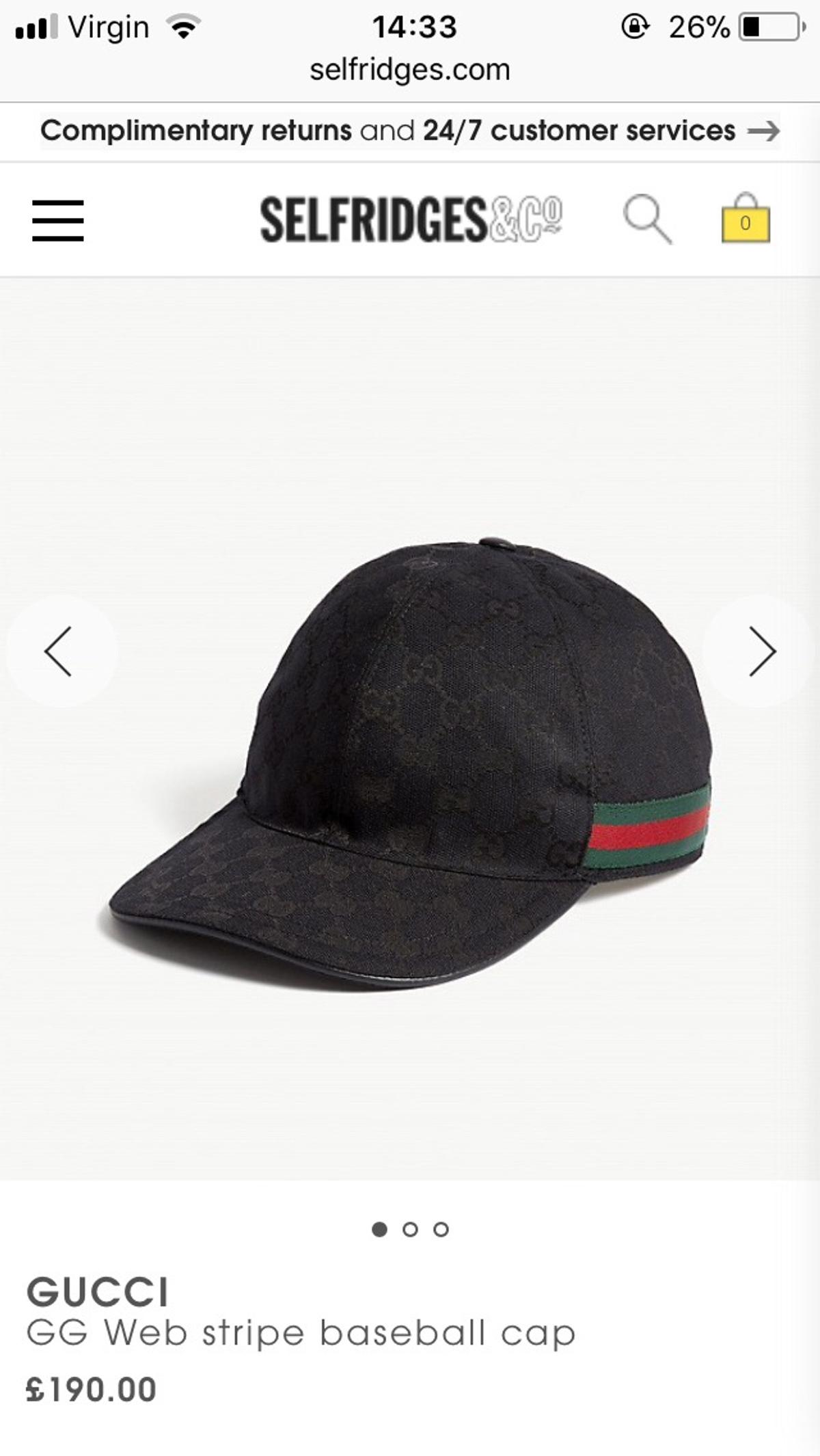 573fa8675ec4 Genuine Black Gucci Cap in LE2 Leicester for £120.00 for sale - Shpock