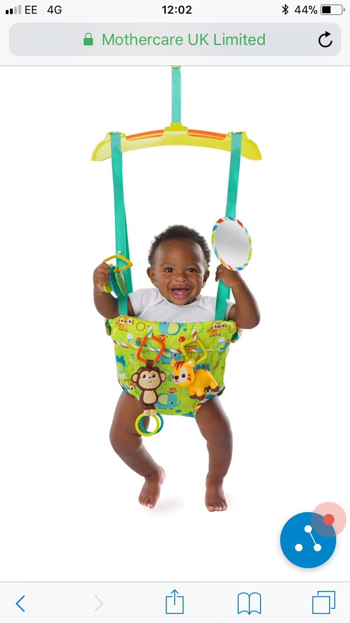ff55f1213c4 Bright starts smiling safari door jumper