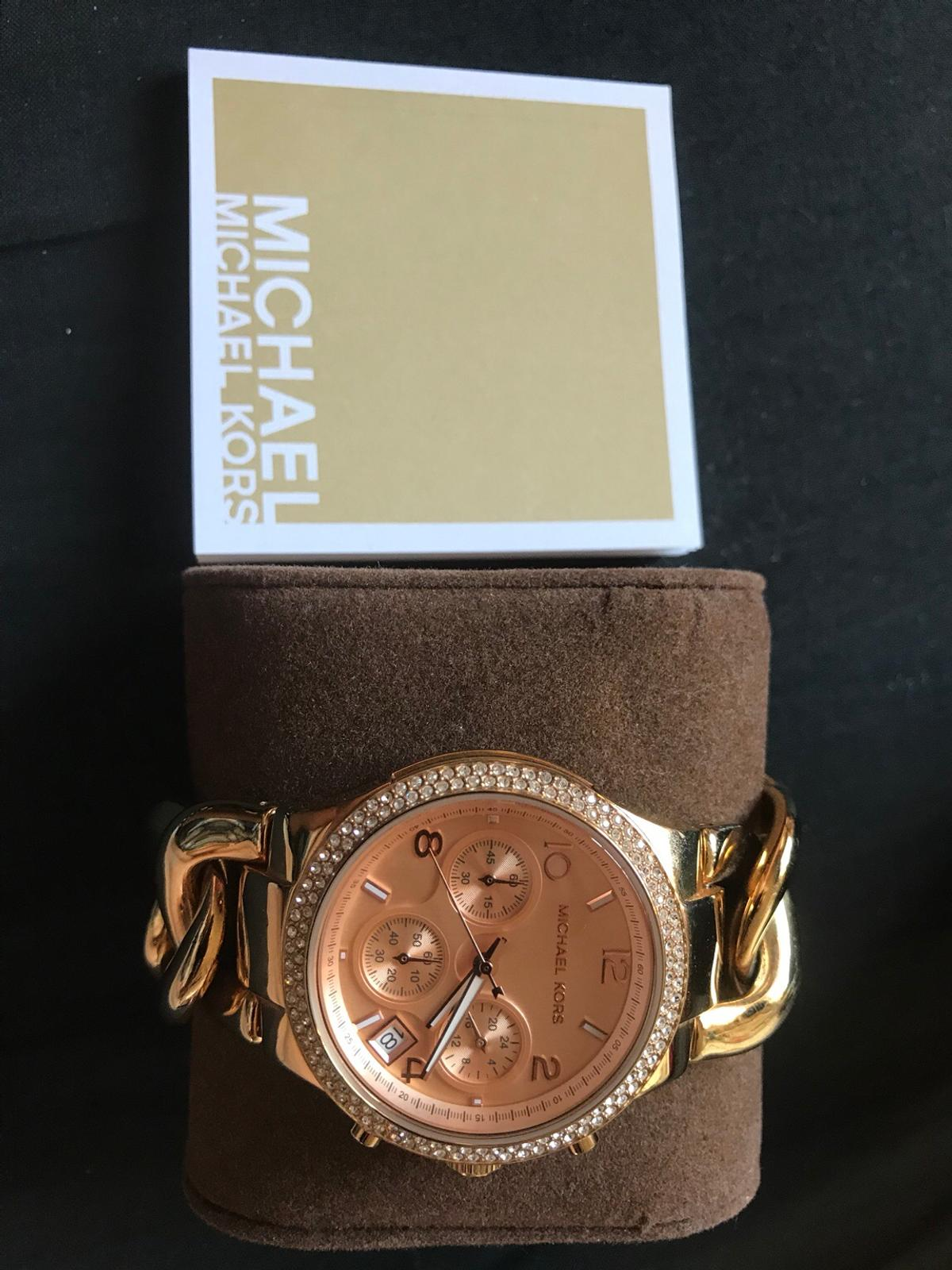 Michael Kors Damen Armbanduhr MK 3247 Gold in 61267 Neu