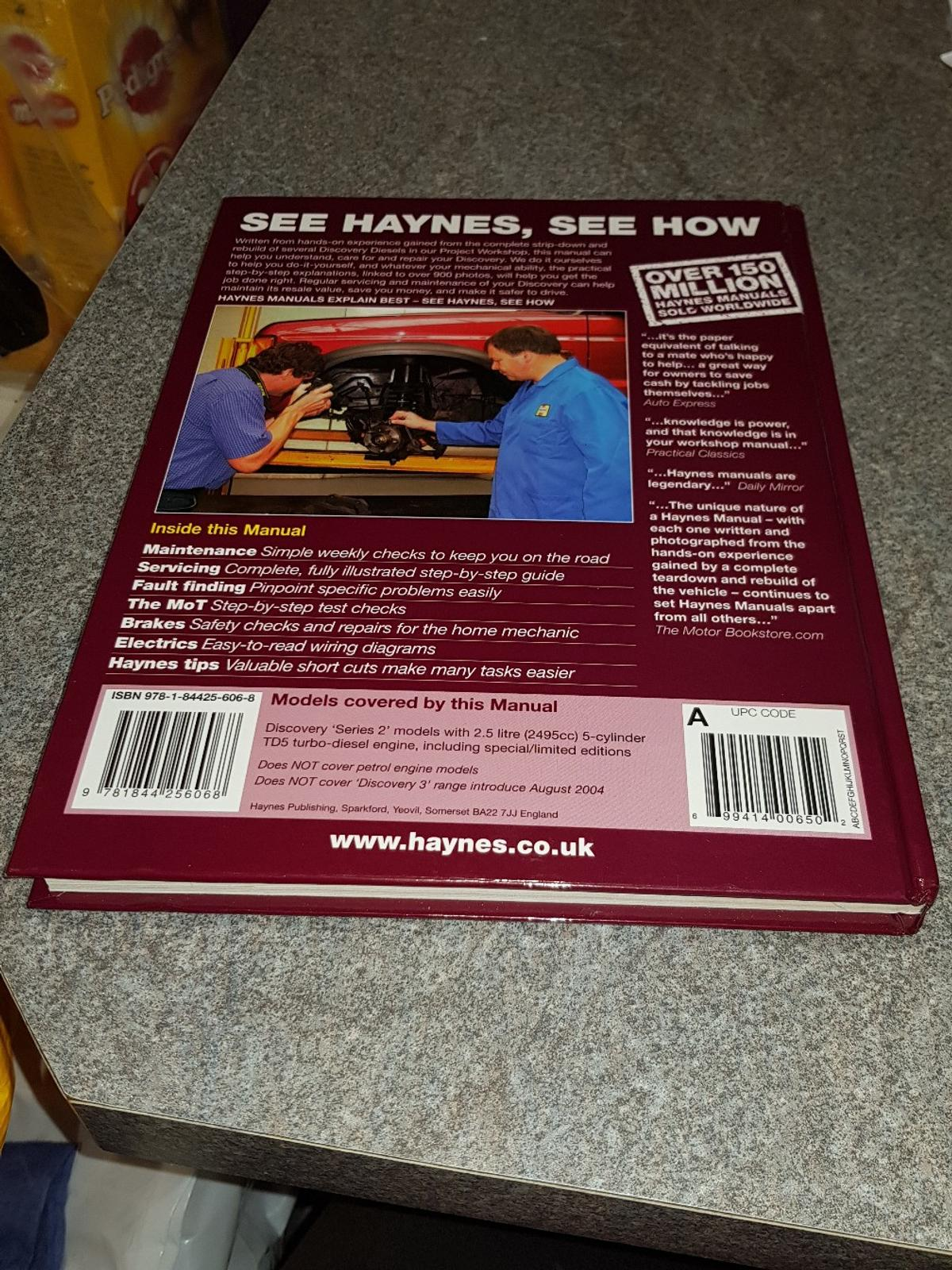 description  i am selling my haynes land rover discovery owners manual