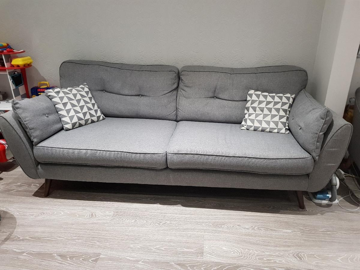 French Connection 4 Seater Zinc Sofa