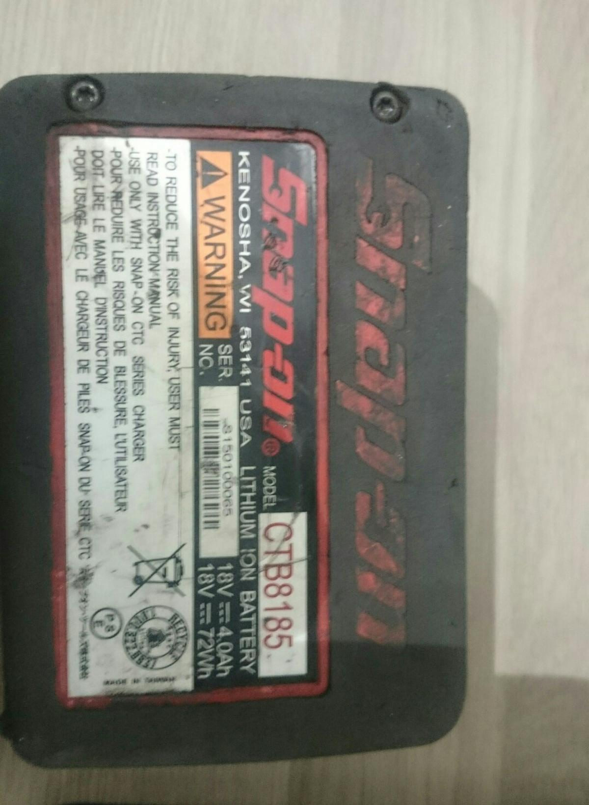 Snap-on lithium-ion 18v battery CTB8185