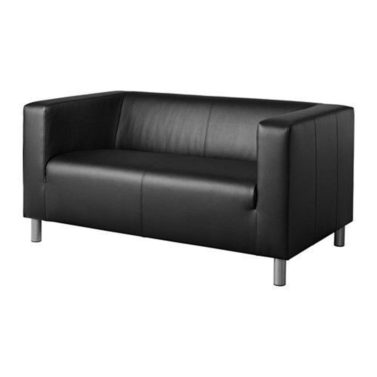 - Ikea Klippan Black Leather Sofa In AL2 Albans For £90.00 For Sale
