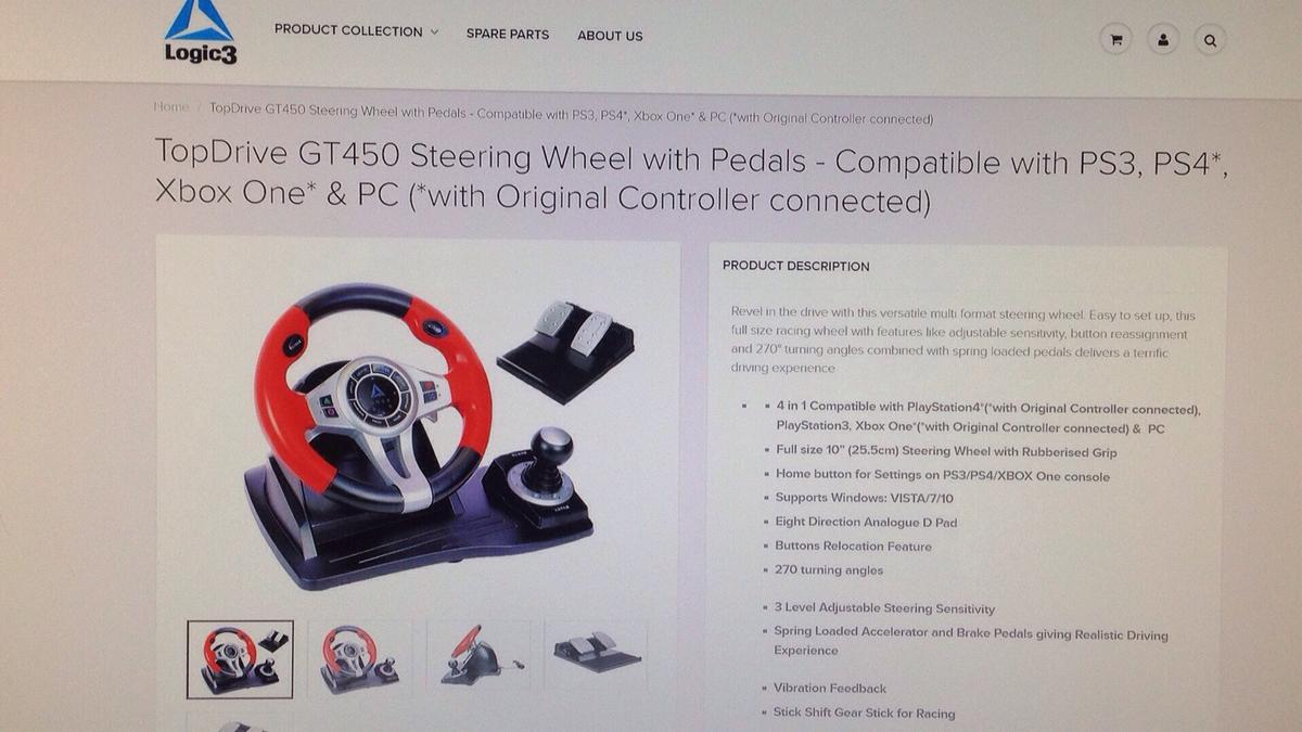 TopDrive GT450 Wheel and Pedals in Balsham for £25 00 for