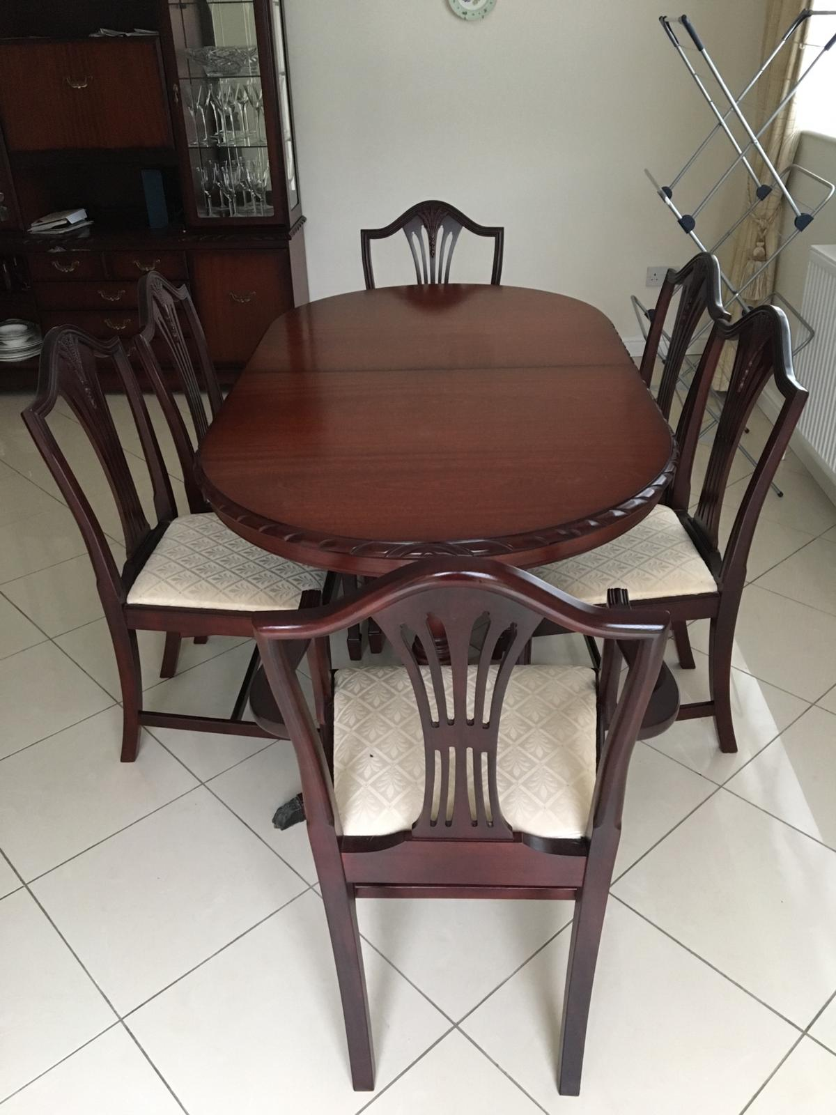 Marvelous Dining Room Table 6 Chairs C W Matching Unit In Np18 Bralicious Painted Fabric Chair Ideas Braliciousco