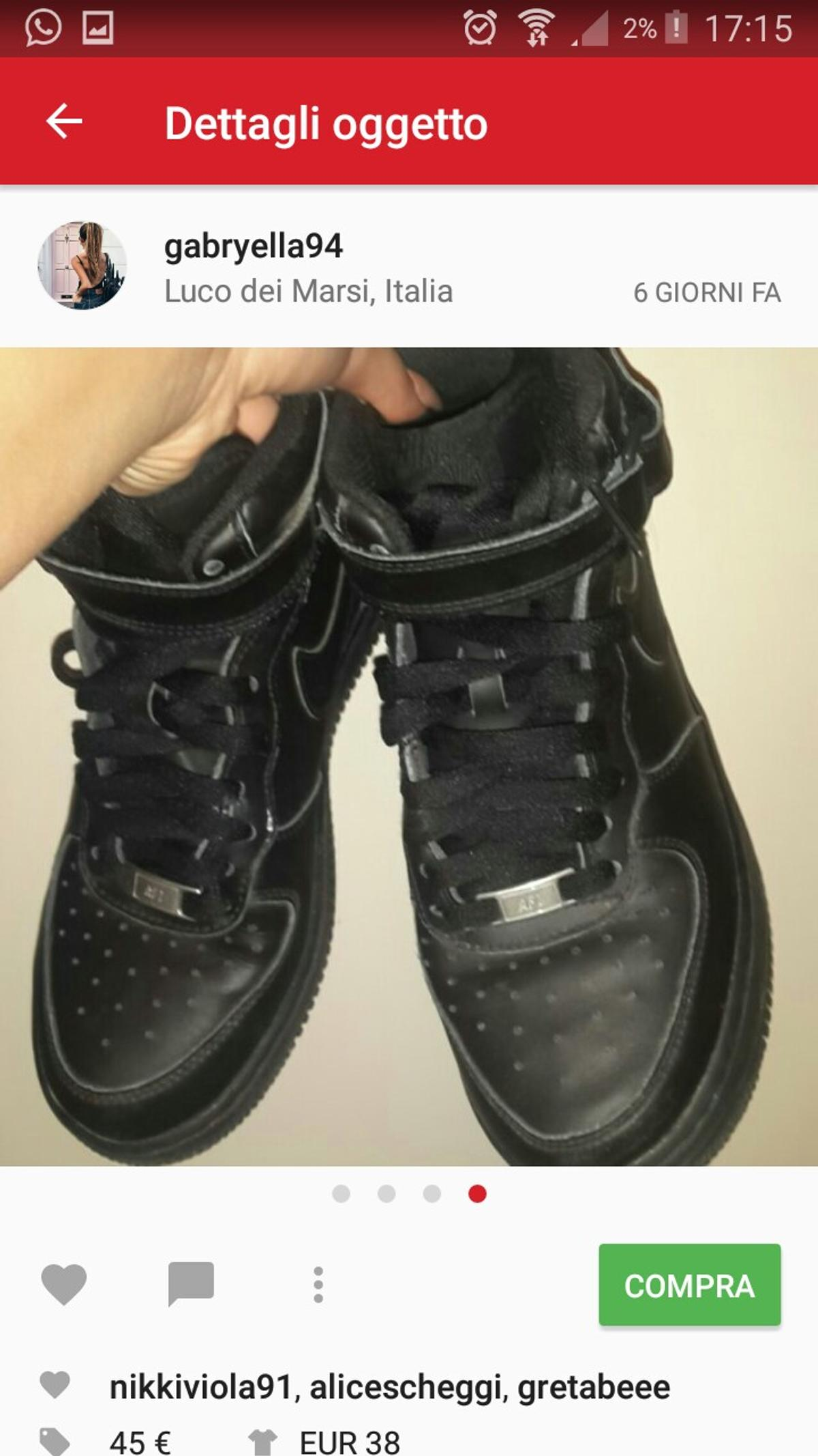 Nike air Force nere in Luco dei Marsi for €30.00 for sale