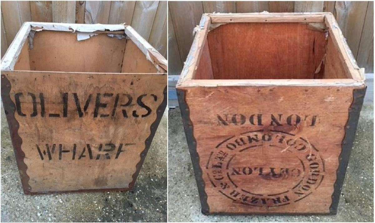 2 Vintage Wooden Tea Chest Crates Storage Box in LN11 Lindsey for
