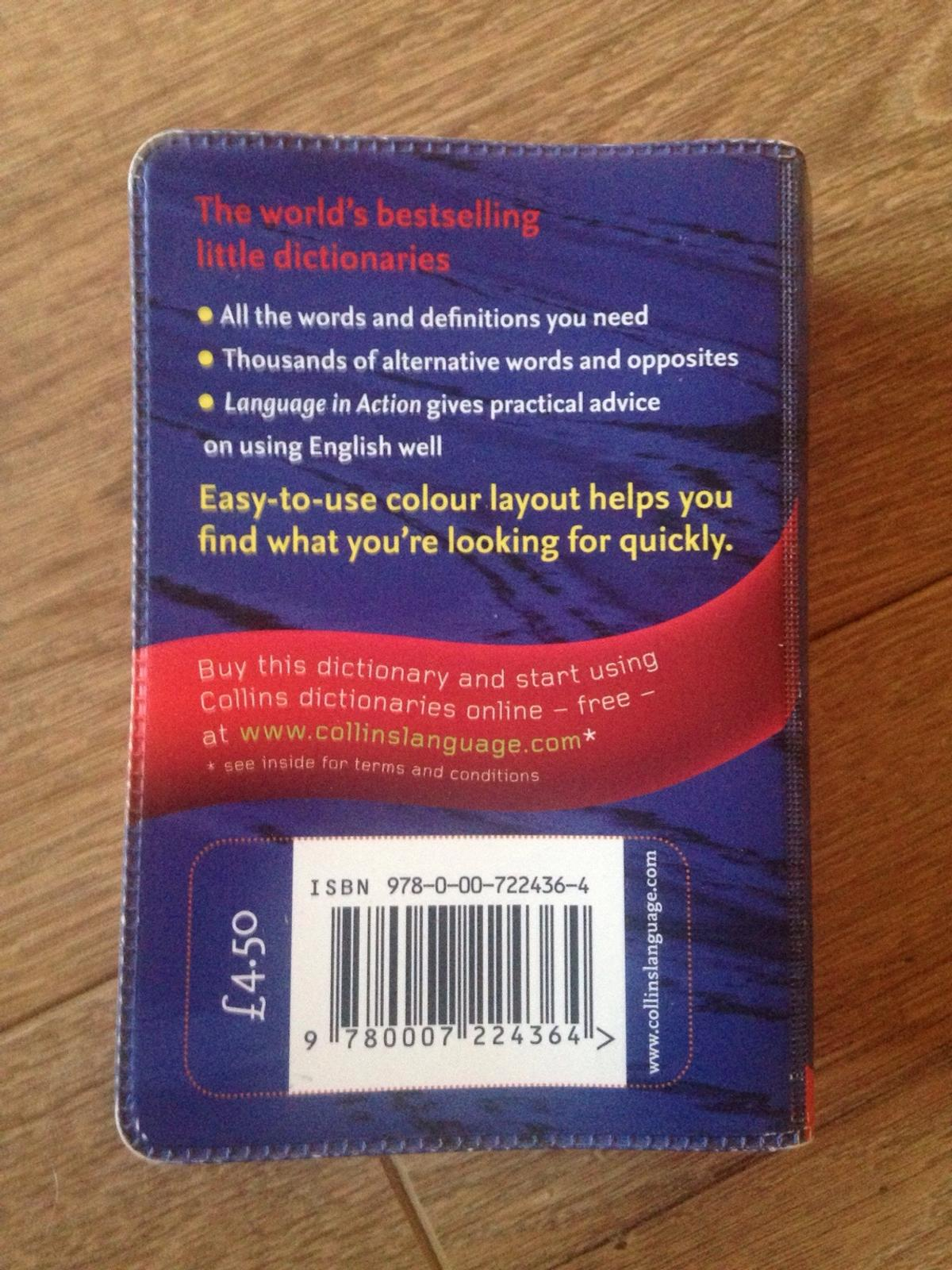 Collins Dictionary and Thesaurus in Rotherham for £1 00 for