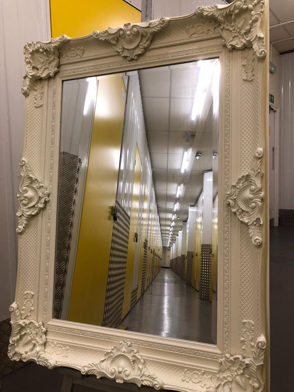 Large Ornate White Framed Wall Mirror In Tw9 Thames For 89 00 For Sale Shpock