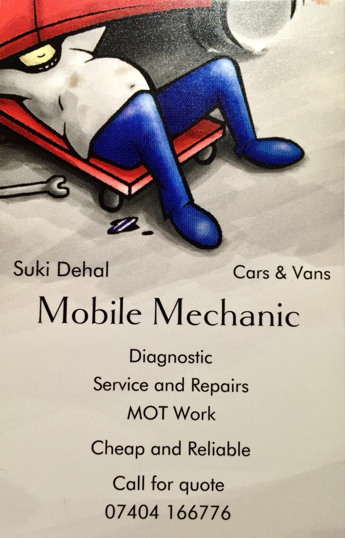 Mobile Mechanic for Dudley and Surroundings