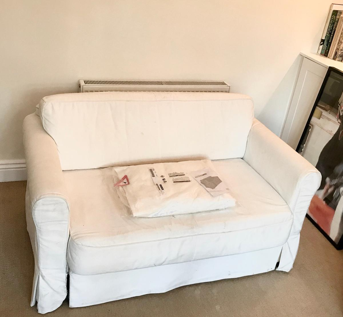 Astonishing Ikea Hagalund Sofa Bed With New Covers In Sw20 London Bralicious Painted Fabric Chair Ideas Braliciousco