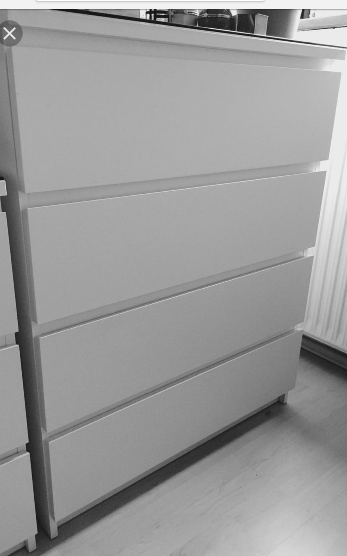Ikea Malm Kommode 4 Schubladen Weiss Schrank In 67549 Worms Fur 60