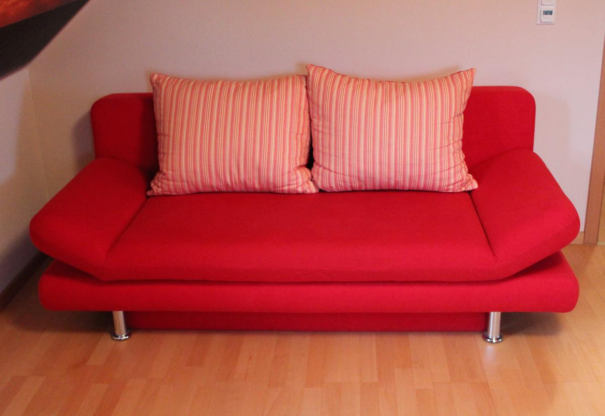 Couch Schlafcouch Sofa Schlafsofa Rot In 47877 Willich For 90 00 For Sale Shpock