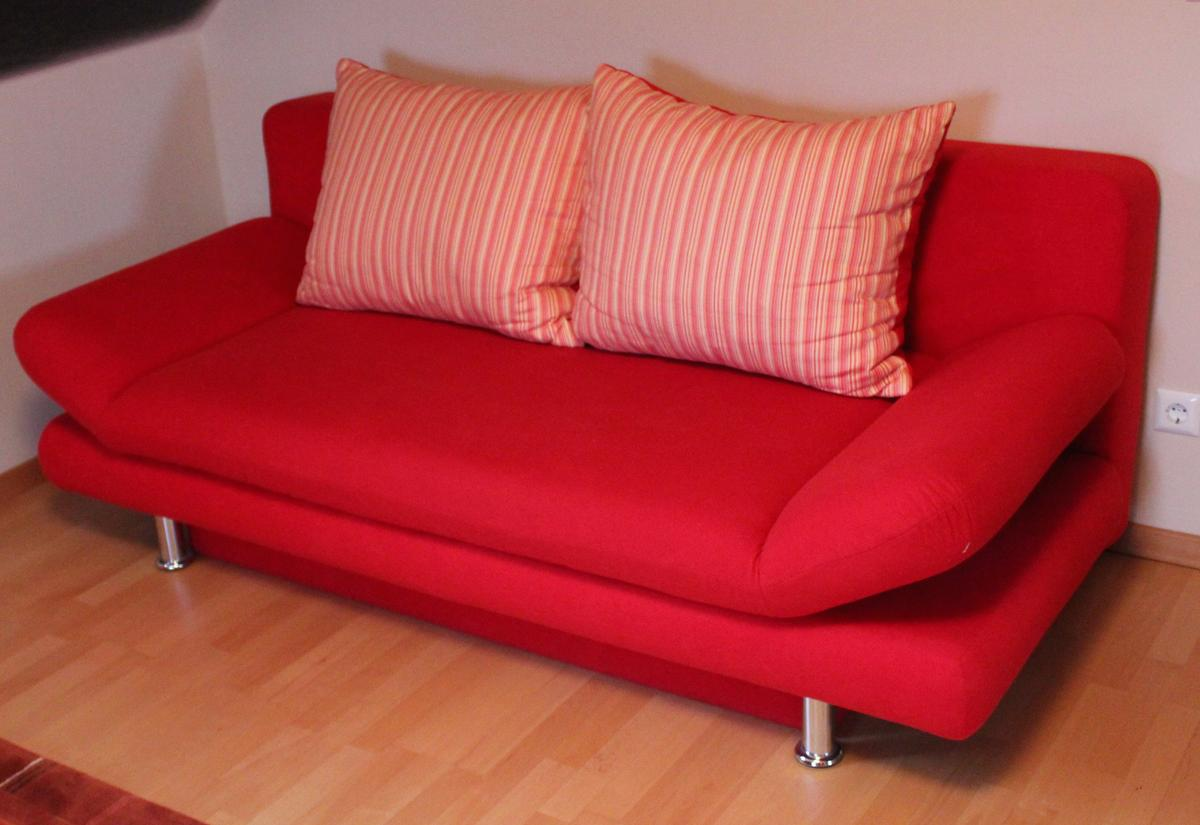 Couch Schlafcouch Sofa Schlafsofa Rot In 47877 Willich Fur 90 00