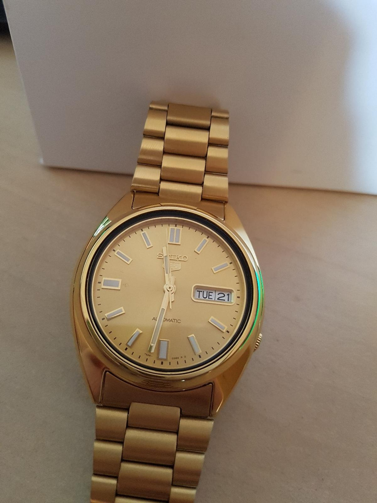 €80 Snxs 80 Mainleus 00 For In Seiko 5 95336 Gold Automatic l1F3TKJc