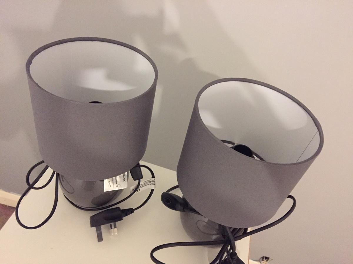 Grey Bedside Lamps X2 Brand New In Cr2 London For 20 00 For Sale Shpock