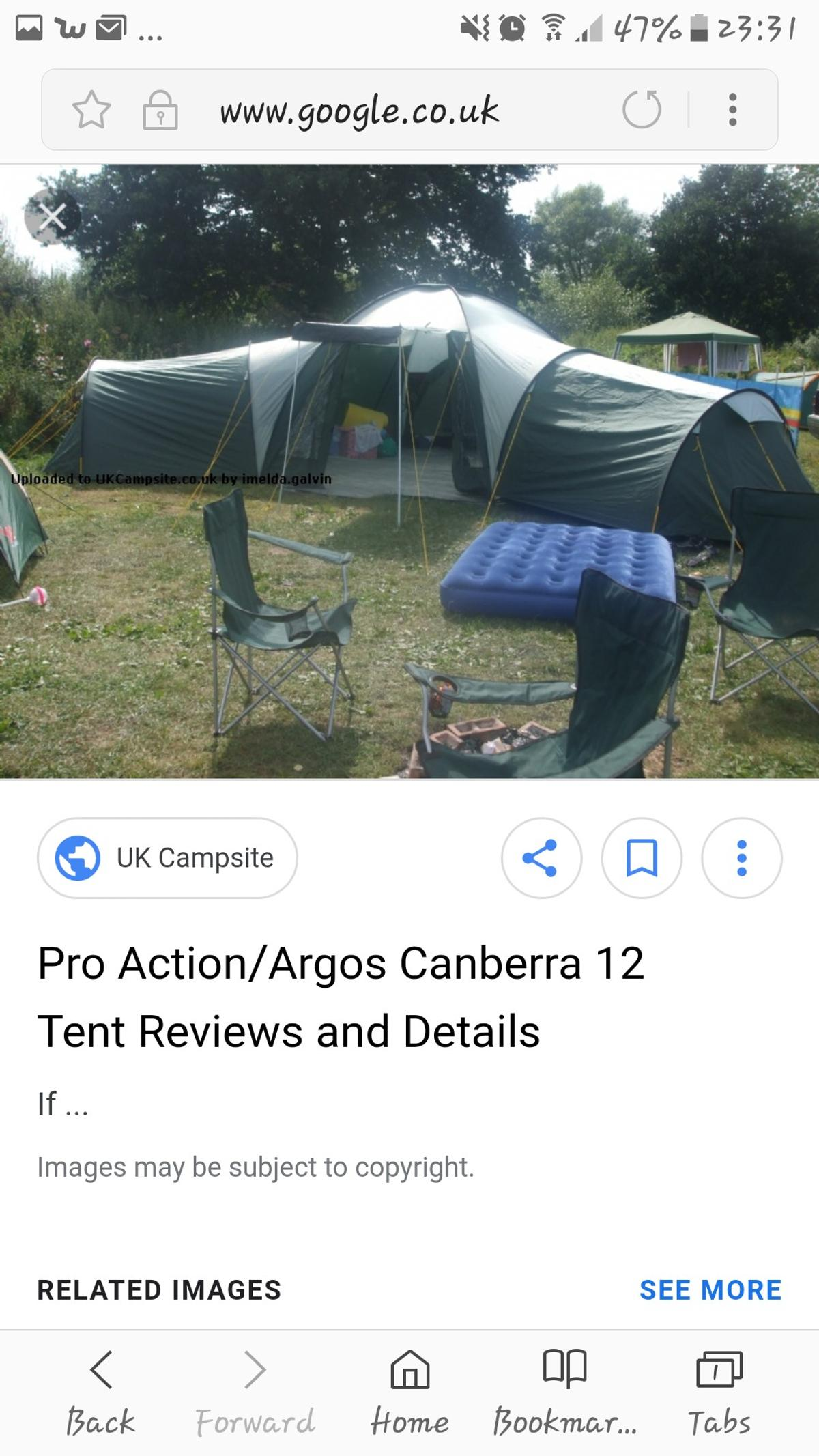 Pro action canberra 12 man tent in SP10 Test Valley for