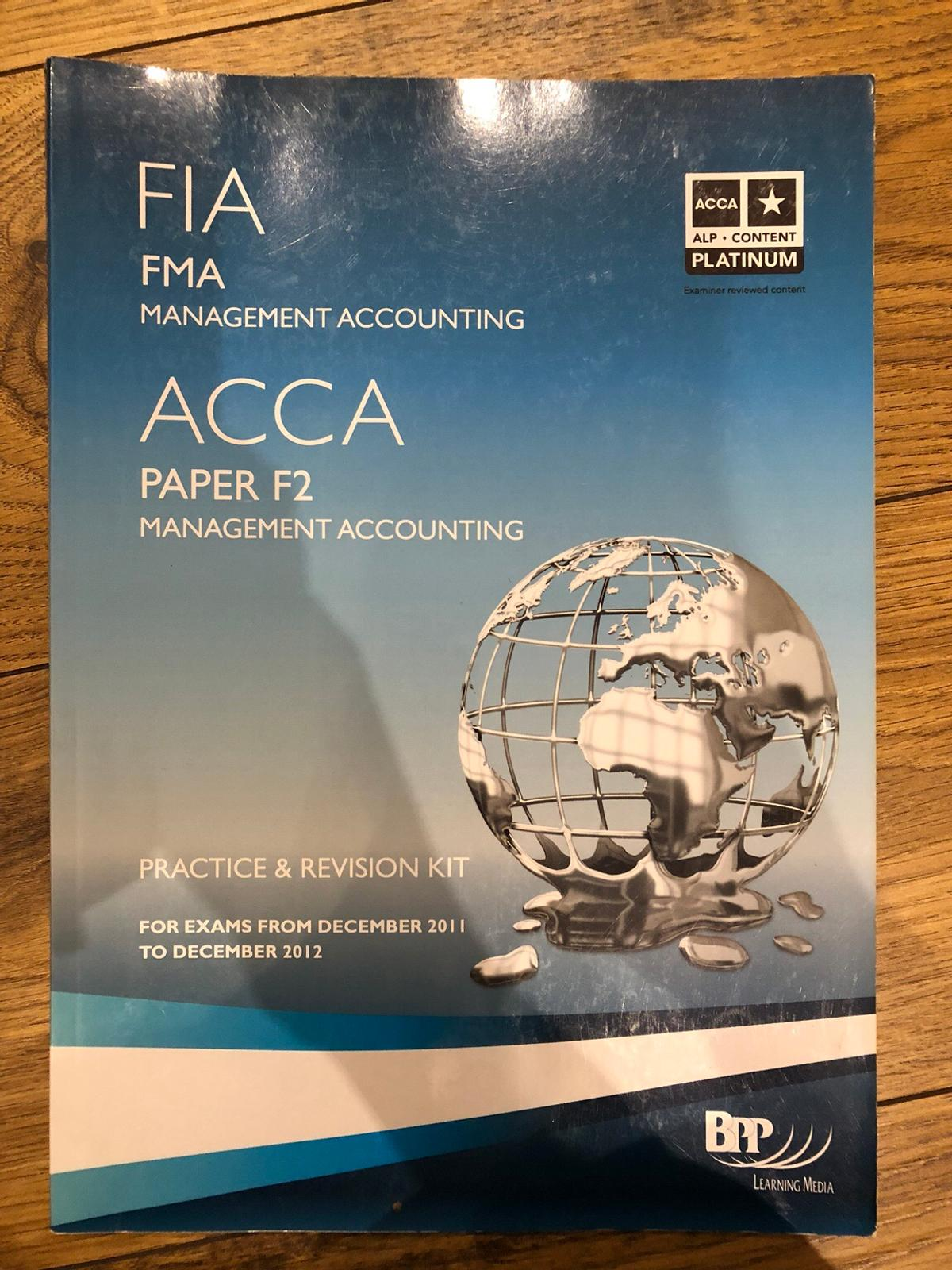 BPP ACCA accounting book bundle in London Borough of Bromley