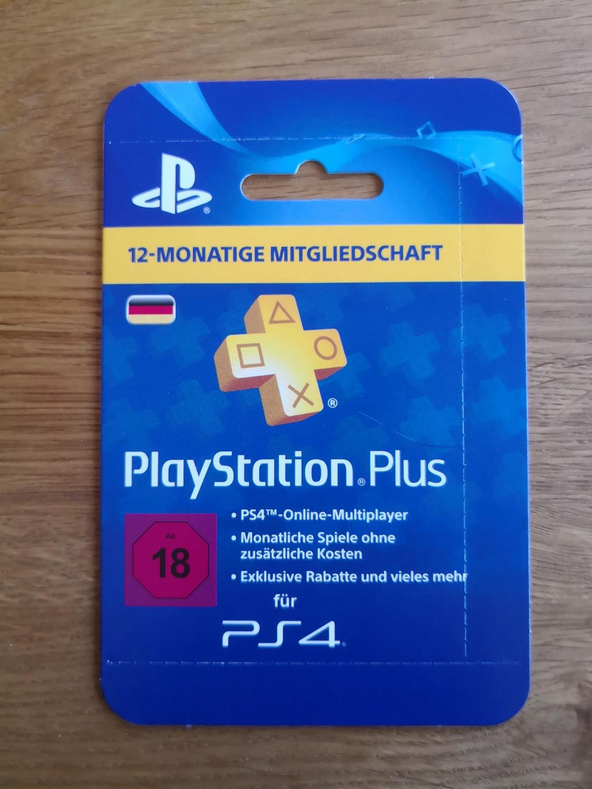 Ps Plus Karte.Ps Plus 12 Monate 1 Jahr Playstation Plus