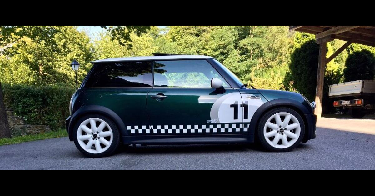 mini cooper s r53 british racing green in 6424 silz for. Black Bedroom Furniture Sets. Home Design Ideas