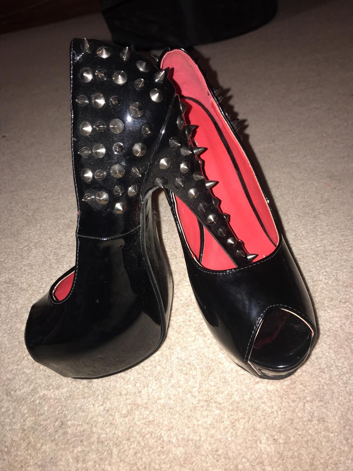 e8747d11e60 Essex Glam Black Patent Leather Studded Heels in Darlington for ...