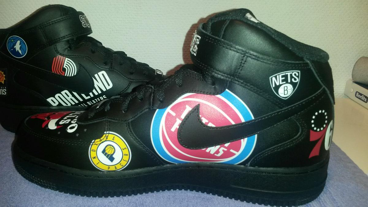Nike x Supreme Air Force 1 Mid NBA Neu 43 9,5 in 80335