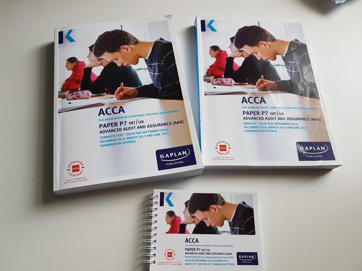 ACCA P7 Kaplan set in E10 London Borough of Waltham Forest