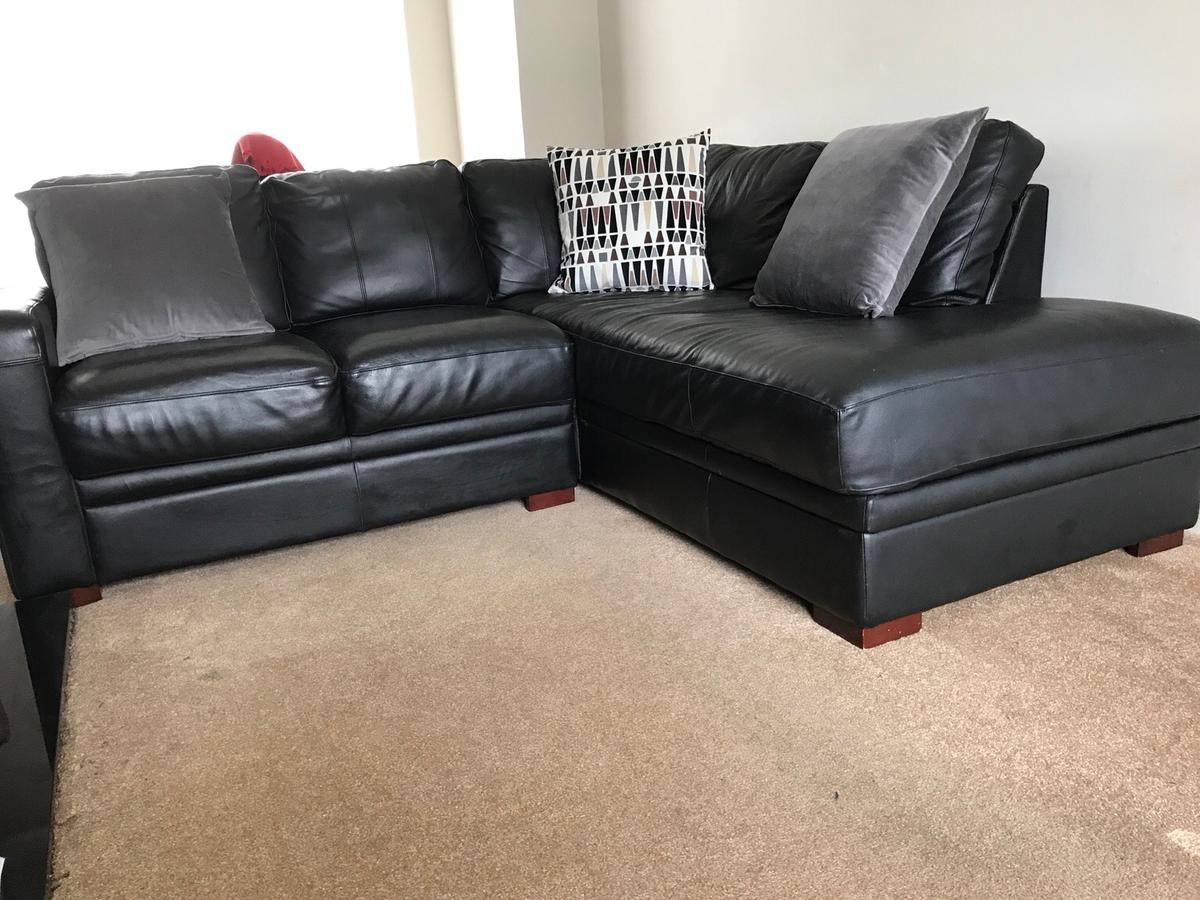 Admirable Black Faux Leather Sofa In B31 Birmingham For 175 00 For Gmtry Best Dining Table And Chair Ideas Images Gmtryco