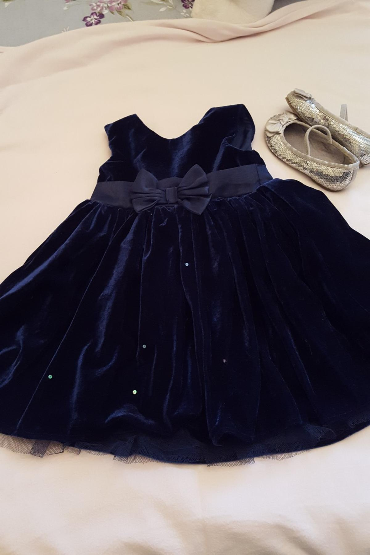 Royal Blue Velvet Dress And Silver Shoes In Wv14 Wolverhampton For 5 00 For Sale Shpock