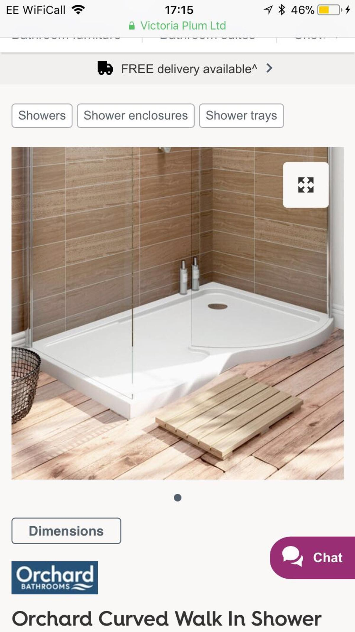 Victoria Plumb Showers >> Victoria Plumb Shower Tray In Mole Valley For 40 00 For Sale Shpock
