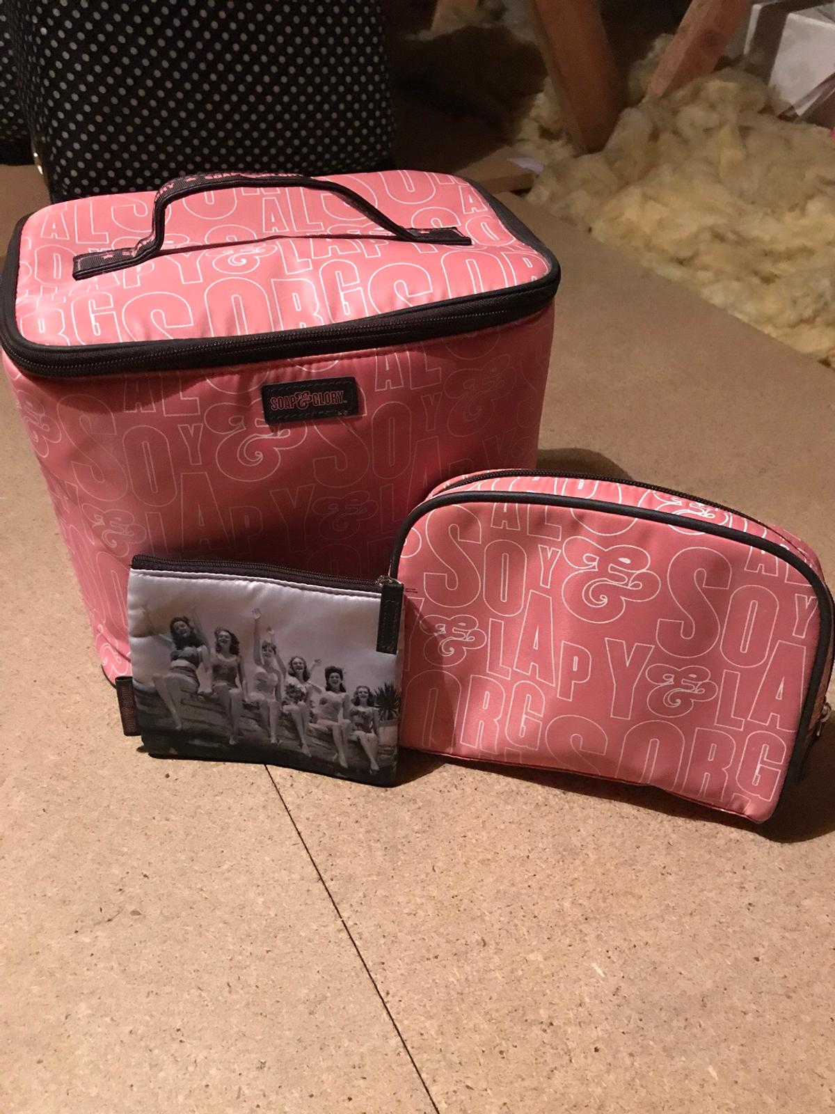 Soap Glory Set Of 3 Makeup Bags In