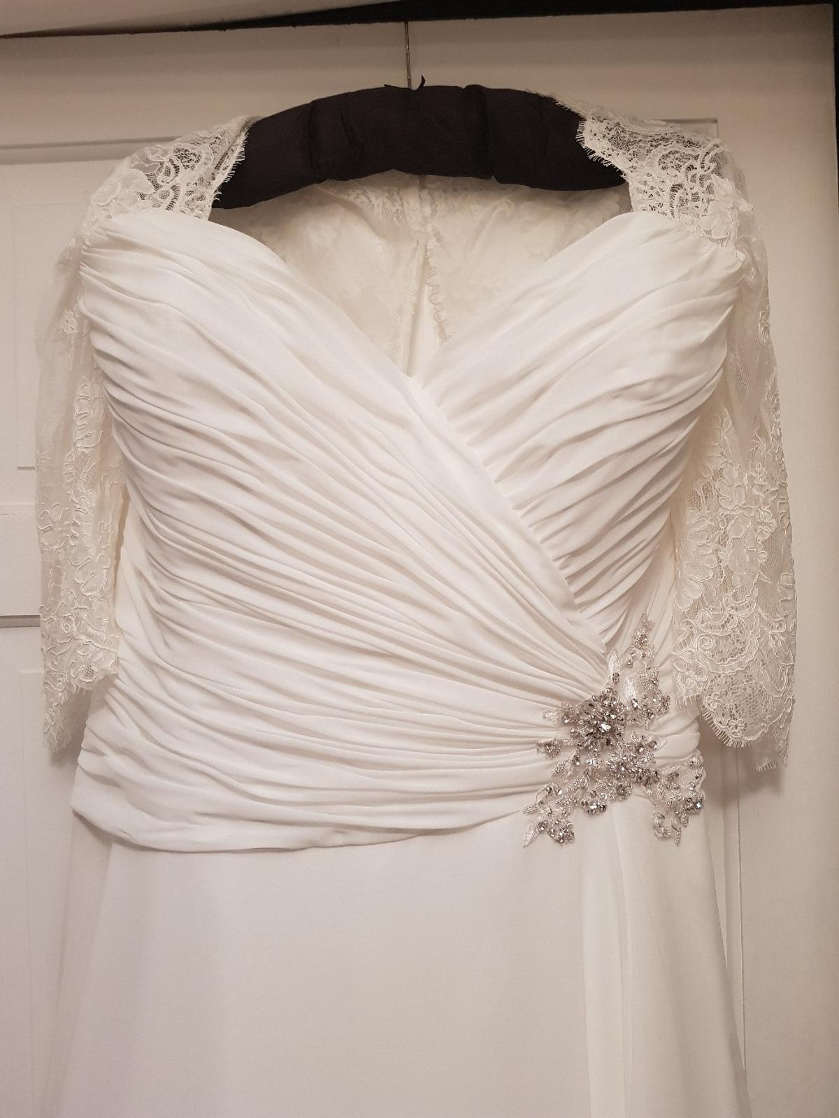 White Rose Plus Size Wedding Dress 22 24 In Bb12 Burnley For