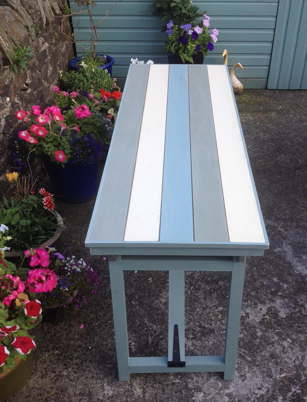Solid Pinewood Painted Folding Patio Table In Cf Cardiff For 115 00 For Sale Shpock