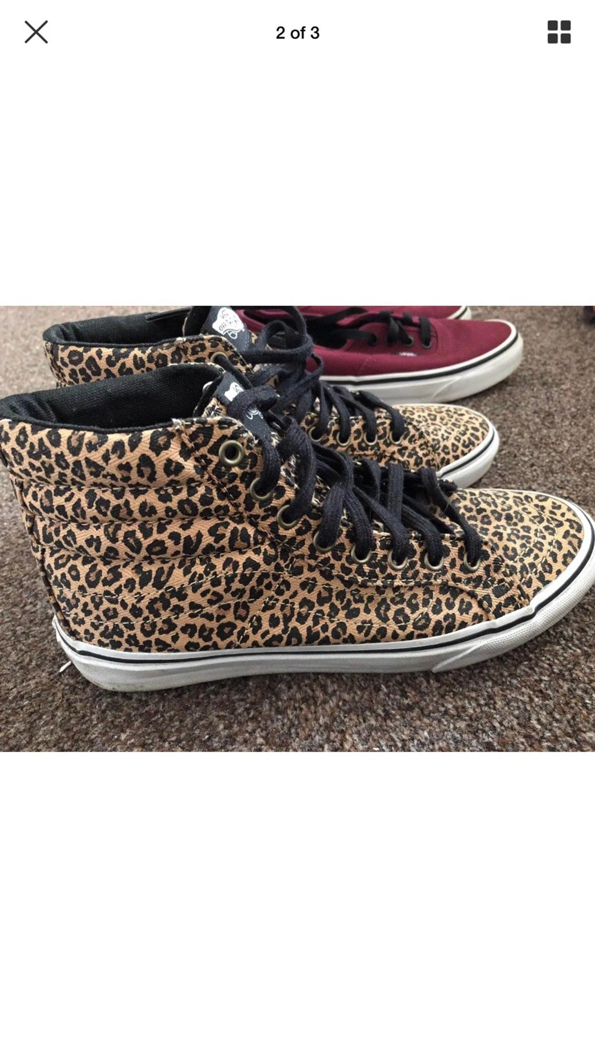 d3e319fa02d1 Vans hi top leopard print size 5 in Epping Forest for £15.00 for ...