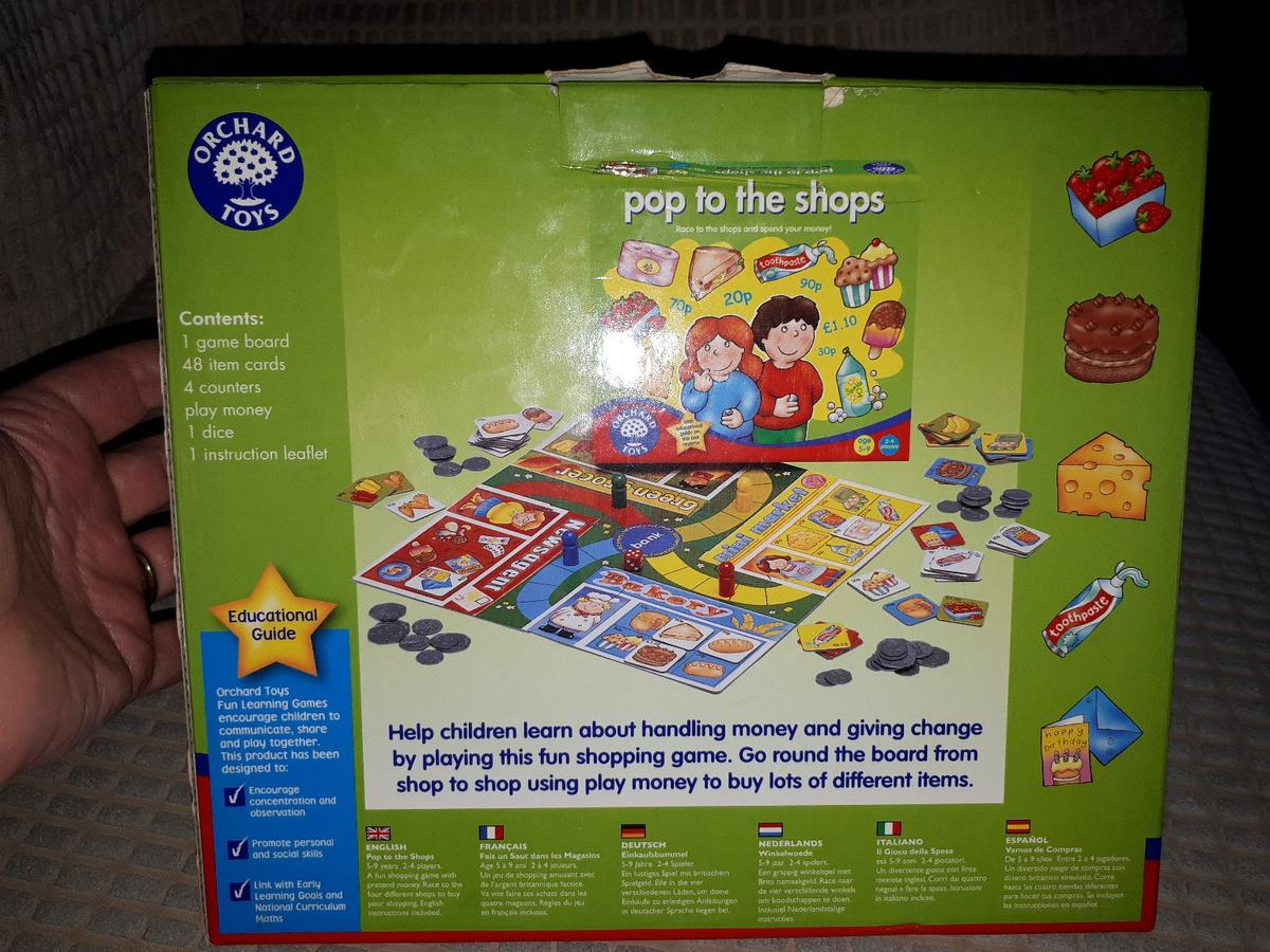 Orchard Toys Pop To The Shop Game In Rochford For 5 00 For Sale Shpock Is a fun animals of the world lotto, where players develop their knowledge and understanding of the world as they match different animals to their habitats. orchard toys pop to the shop game