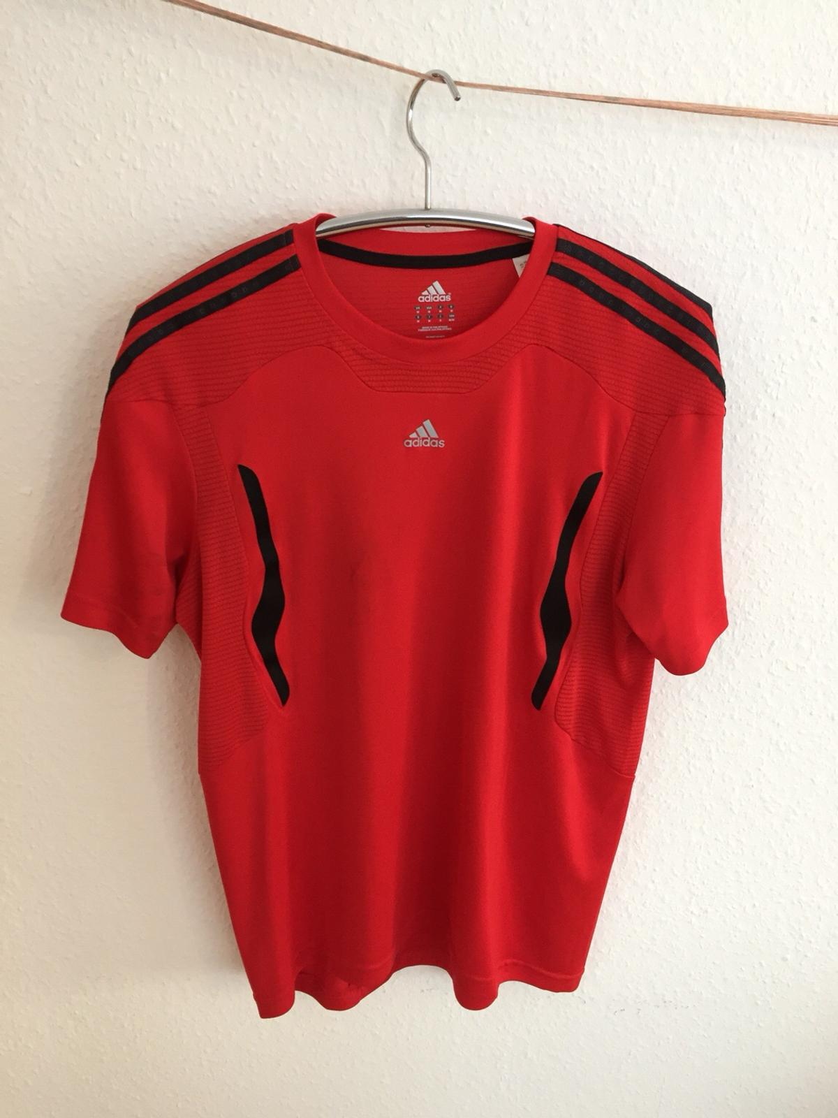Adidas T Shirt Climacool, rot, Gr M
